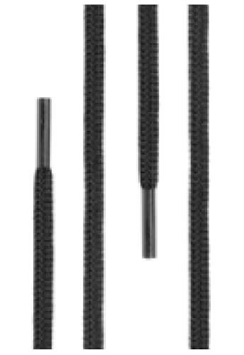 Di Ficchiano runde SCHNÜRSENKEL für Arbeitsschuhe und Trekkingschuhe - sehr reißfest - ø ca. 4,5 mm, Polyester - SP-01-black-120