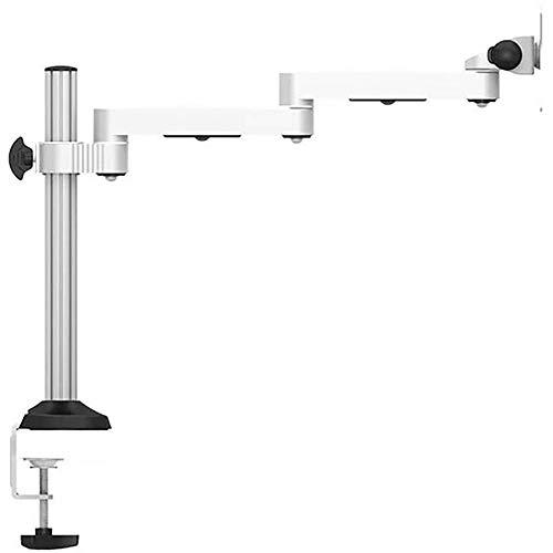 Yingm Excelente Artesanía Monitor de Aluminio del Soporte de Escritorio de elevación Base giratoria Universal y sin Agujeros for Aumentar la Plataforma Soporte para Monitor de Escritorio