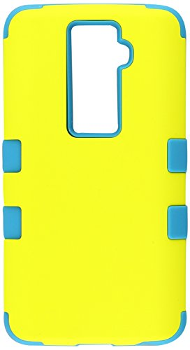 MyBat LG LS980 (G2), VS980 (G2), D800 (G2), D801 (Optimus G2) TUFF Hybrid Phone Protector Cover - Retail Packaging - Yellow/Tropical Teal