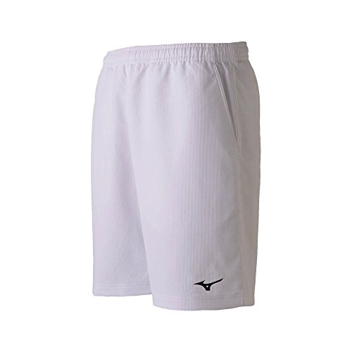 [Mizuno] テニスウエア ゲームパンツ 吸汗速乾 ドライ 抗菌防臭 消臭 バドミントン ソフトテニス 62JB7001 ホワイト 日本 140 (日本サイズ140 相当)