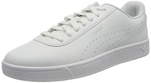 PUMA Court Pure, Scarpe da Ginnastica Unisex-Adulto, Bianco (White-White-Gray Violet-Silver), 38 EU