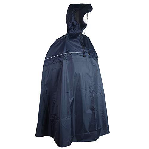 SHIBA Rain Protect Regenponcho inkl. Kapuze - blaues Fahrrad-Regencape für Damen und Herren - wasserdicht & leicht - mit praktischer Tasche