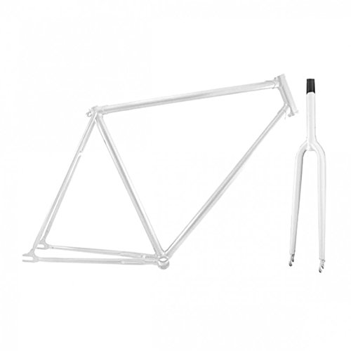 Permanent-Fahrrad Retro Single Speed Muffen Rahmen mit Gabel (Weiss, 50)