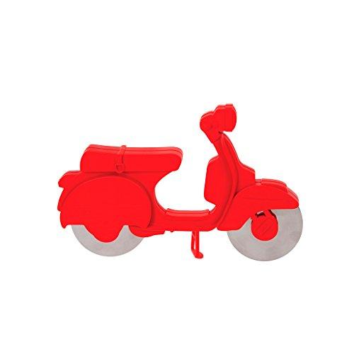 balvi Pizzaschneider Scooter Farbe Rot ABS-Kunststoff/Edelstahl