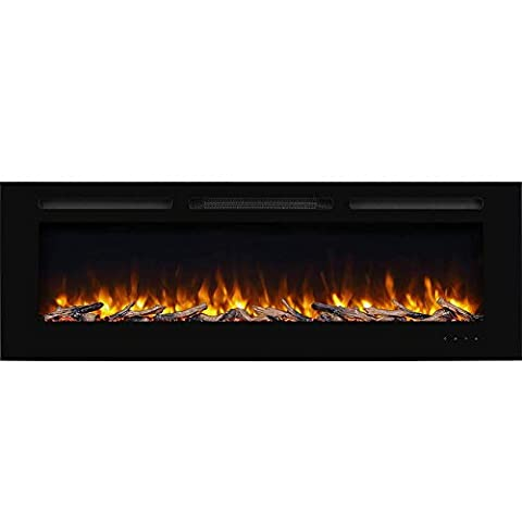 PuraFlame Alic Recessed Electric Fireplace