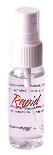Rapid Eyewear Spray NETTOYANT x 30ml Non-Toxique, sans Alcool, Antistatique. pour Verres Lunettes et écrans téléphone Portable, iPad, télé, Tablette,