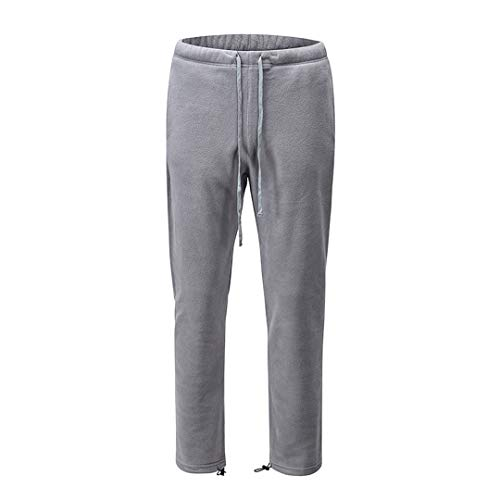 Renost Pantaloni da Uomo in Pile Pantaloni da Uomo Pantaloni Casual Larghi Dritti Pantaloni Larghi da Uomo Gray XL