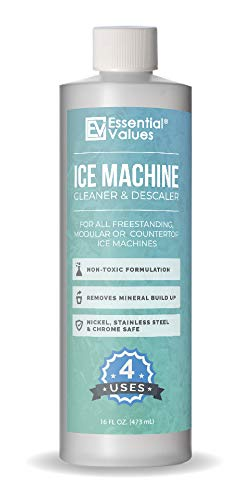 Essential Values Ice Machine Cleaner 16 fl oz, Nickel Safe Descaler | Ice Maker Cleaner Compatible with All Major Brands - Made in USA