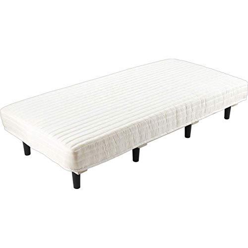 アイリスプラザ 脚付きマットレス ポケットコイル ダブル すのこベッド コイル数462個 搬入らくらく 圧縮梱包 ベッド 耐久性・通気性 AATM-D アイボリー