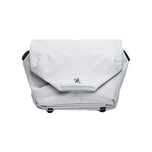 Bolsa de computadora portátil con Estilo con Correa de Hombro Ajustable Impermeable y Tela Antiarrugas Maletín (Color : White, Size : 13.3 Inch)