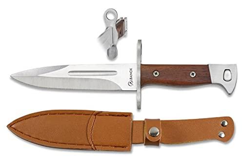 Lo Trinco Cuchillo ALBAINOX 32505 Hoja 15 cm. Herramienta para Caza, Pesca, Camping, Outdoor, Supervivencia y Bushcraft