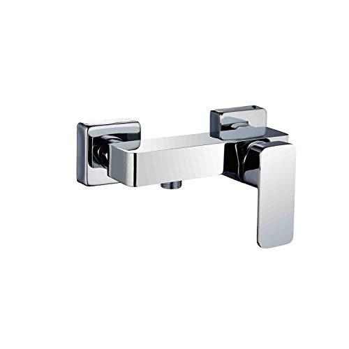 Grifo monomando de ducha CHE con equipo de ducha de mano, soporte y flexo. Fabricado en latón acabado en cromo brillo. Incluye cartucho cerámico, excéntricas y embellecedores. Repuestos garantizados