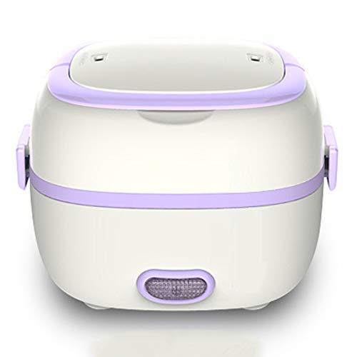 YFGQBCP Fiambrera Caja de Almuerzo con calefacción, Caja de Almuerzo climatizada eléctrica, Caja de Almuerzo eléctrica Mini Mini Portátil Cocina de arroz de Acero Inoxidable