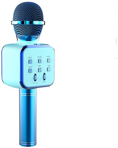 Huolirong Micrófono Karaoke Bluetooth Bellamente inalámbrico Bluetooth Transmisor Altavoz Bass/Echo Micrófono Móvil Micrófono Profesional