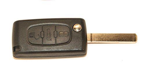 KLEMAX Coque de clé Adaptable pour Peugeot 107, Peugeot 207, Peugeot 307, Peugeot 308 référence: PSA308C