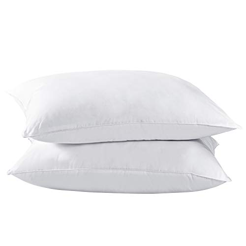 Dreamhood Down and Feather Pillows for Stomach Sleepers,Soft Bed Pillows...