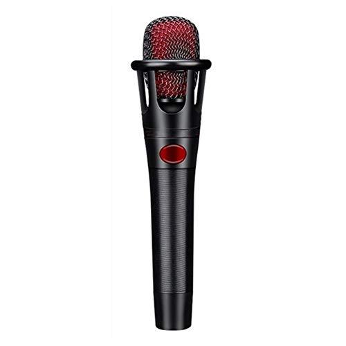 Lebeaut Micrófono Profesional for Bloggers Conferencias vlogueros Canto Youtube en Vivo de vídeo Rojo para Podcast Grabación Entrevista