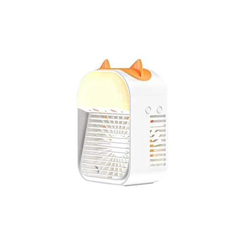Yesman, mini mini condizionatore d'aria silenzioso, ventilatore evaporativo ricaricabile USB da scrivania con 3 velocità a LED, mini condizionatore d'aria piccolo per casa, dormitorio esterno