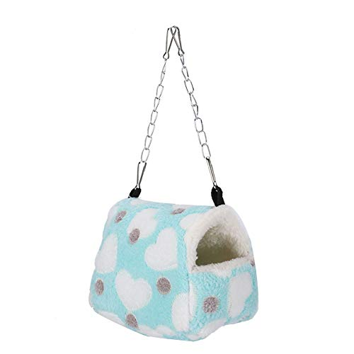 FOLOSAFENAR Hamster Nesting House Breathable Beautiful for Small Pets S, M(small)