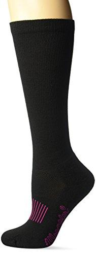 Wrangler Women's Ladies Western Boot Socks 3 Pair Pack, Black, Medium