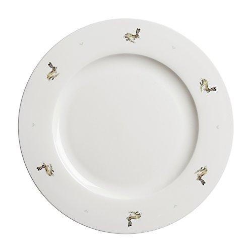 Sophie Allport Assiette en porcelaine fine Motif lièvre 27 cm