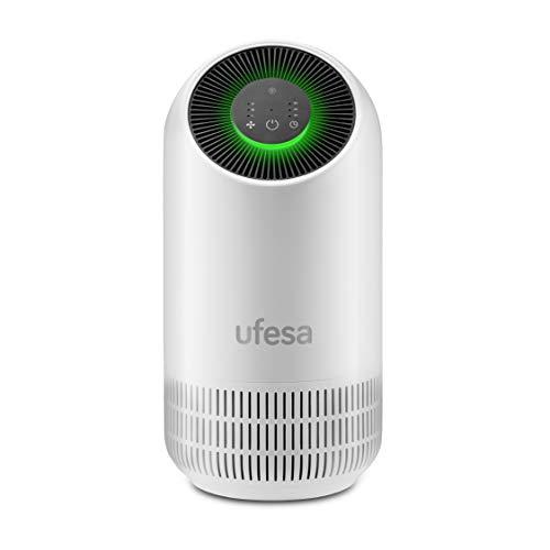 Ufesa PF4500 Purificador de Aire con Sistema de Filtrado 3 Capas: Pre filtro + Carbono Activo + HEPA. Neutraliza el 99.97% de Polvo y Bacterias, Hasta 40m², 3 Velocidades, Silencioso 30dB(A)