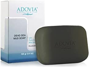 4X Adovia Natural Dead Sea Mud Soaps - Great for Acne, Eczema, and Psoriasis (4.4oz each)