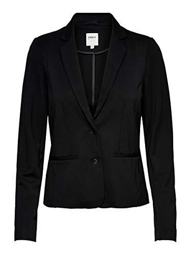 Only Onlpoptrash Blazer Noos Chaqueta de Traje, Gris (Black), 38 (Talla del Fabricante: Small) para Mujer