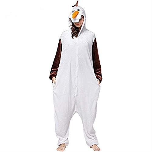 Xx101 Adulto Animal muñeco de Nieve Olaf Onesies Flannel Pijamas Historieta Cosplay Disfraces Partido Partido Partido Navidad Kigurumi Nixx0 (Size : Medium)
