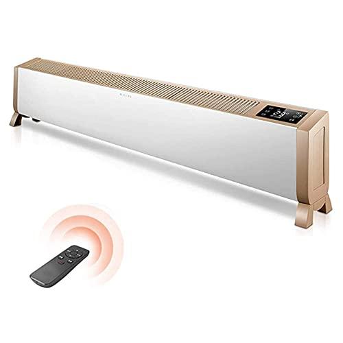 JIEZ Convector de zócalo eléctrico, termostato Inteligente, Temporizador Digital para el hogar/Invernadero, radiador de zócalo, calefacción de Suelo móvil, IPX4 a Prueba de Agua