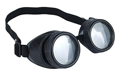 DreamzFit - Sombrero de aviador para hombre y mujer, gafas Steampunk y bigote de los años 40, accesorio de disfraz para adulto (gafas Steampunk)