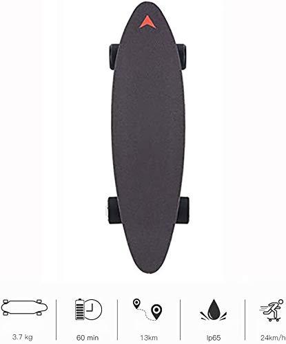 ZLSANVD Elektro-Skateboard drahtlose Fernbedienung elektrisches Skateboard Longboard bis zu 20 Stundenmeilen motorisierte Skateboard mit Wireless Fernbedienung for Erwachsene und Jugendliche