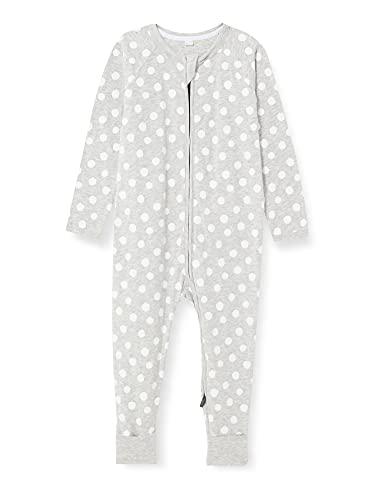 Dim 0A0I Pijama Largo para bebés y niños pequeños, Pois Blanc Gris, 18 Meses