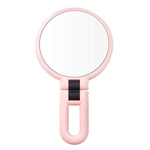 Pixnor Miroir de Maquillage Poche Poche Usb Recharge Miroirs Grossissants Mini Miroir de Voyage Parfait pour Sac à Main Poche Voyage Blanc 5 Grossissant