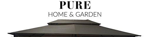 Pure Home & Garden Ersatzdach für Pavillon Capiata Taupe, ca. 300 x 400 cm, wasserabweisend mit UV-Schutz 40 Plus