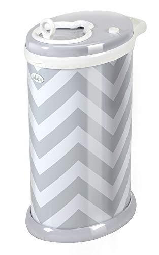 Ubbi U10020 - Contenedor de pañales chevron, color gris