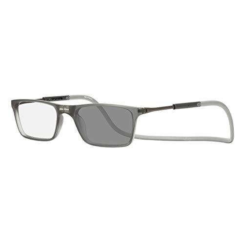 EYEphd Gafas de Lectura fotocromáticas portátiles ultraligidas para Hombres y Mujeres para Mujer, imán Halter HD HHIPérico Lente Hyperopía Gafas de Sol Ampliación +0.75 a +3.0,Gris,+2.75