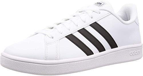 adidas Grand Court Base, Sneaker Homme, Bianco (FTWR White/Core Black/Dark Blue), 44 EU