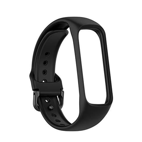 D.ragon Bracelet De Remplacement pour Bracelet Intelligent Samsung Galaxy Fit 2 R220 , Bracelet De Montre en Silicone pour Hommes Femmes Libération Rapide 10 Couleurs Bande De Remplacement