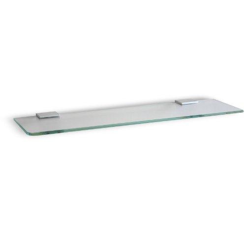 TATAY Estante aluminio y cristal, diseño funcional. Medidas 12.7 x1.4 x45 cm