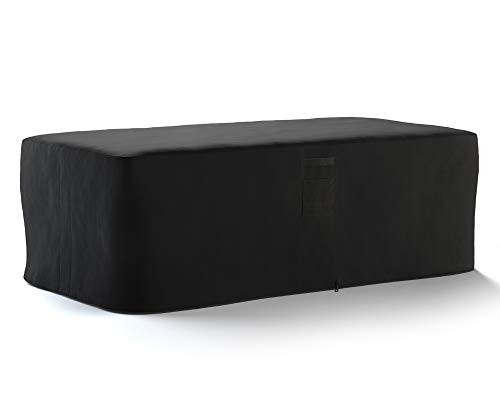 HBCOLLECTION Copertura Traspirante per Tavolo di Giardino Nero (230x130 H72cm)