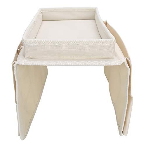 Aufbewahrungstasche 4 Taschen Sofa Armlehne Tv Fernbedienung Organizer Sessel Couch Tasche Mit Becherhalter Tray Beige Sofa Armlehne Organizer