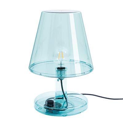 Fatboy® Lampe Trans-parents Blau | Retro Tischlampe, Leselampe | dimmbar