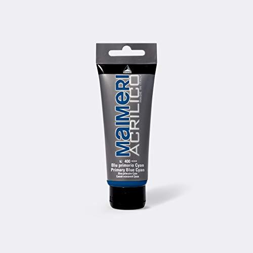 MAIMERI ACRILICO 200 ml, colore acrilico per artisti, colore blu primario – ciano