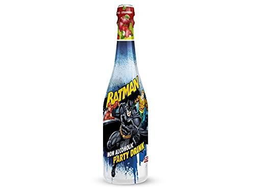 Spumante Analcolico Batman Bottiglia di Succo Mela e Fragola frizzante non Alcolico per Feste e Compleanni