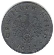 1942-G German Third Reich 10 Reichspfennig Coin KM#101 - World War II