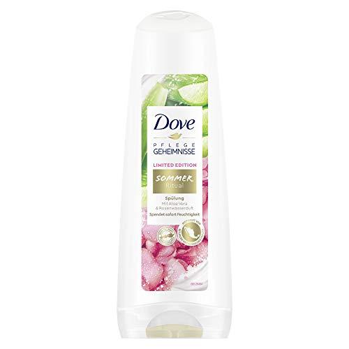 Enjuague Dove Verano Ritual Limited Edition con aroma de aloe vera y agua de rosas, 6 unidades (200 ml).