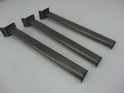 Haken für Lamellenwand Paneelwand Oval Rohr (30x15mm) natur 3 Stück