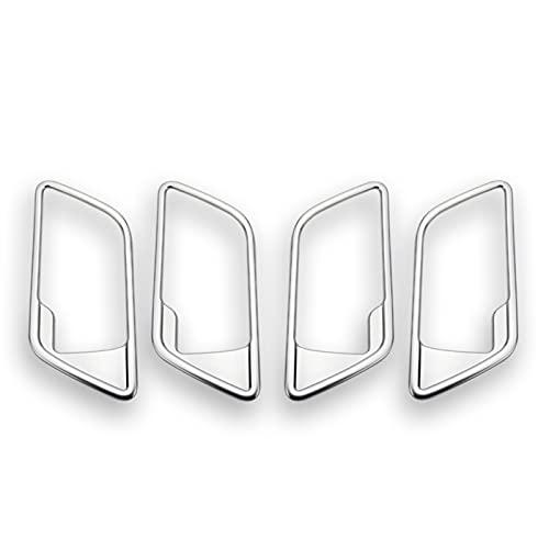 Tirador de Puerta de Coche Para Land Rover Para Freelander 2 2008-2016 Accesorios Automóvile 4 Uds Manija Puerta Interior Coche Cubierta Marco Embellecedor ABS Cromado Manejar de La Puerta Interior de