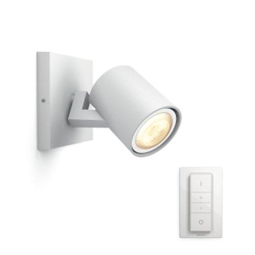 Philips Lighting Hue Runner White Single Faretto LED Singolo con Dimmer Incluso GU10, 5.5 W, Bianco, 11 x 9 x 10.9 cm, 1 pezzo